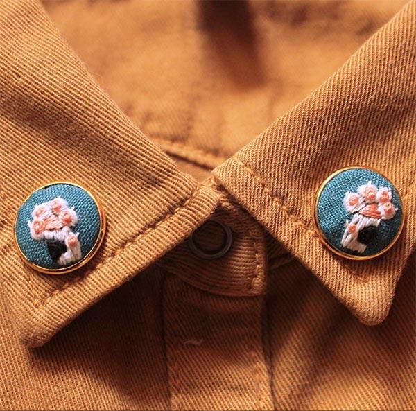 ハンドメイド 刺繍,ハンドメイド 肉球,猫,肉球,刺繍