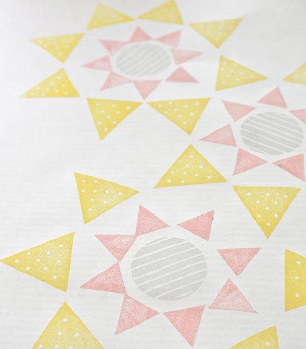 ハンドメイド 消しゴムはんこ,消しゴムはんこ 幾何学模様