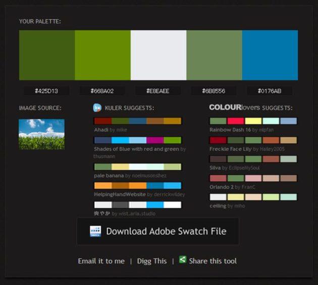 写真から色を抽出するサイト
