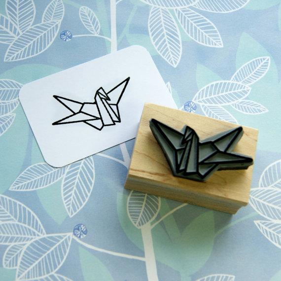 折り紙の手作りハンコ